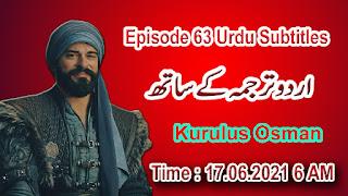 Kurulus Osman Episode 63 Urdu Subtitles