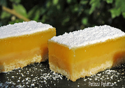 barres au citron, lemon bars, dessert citron, patissi-patatta