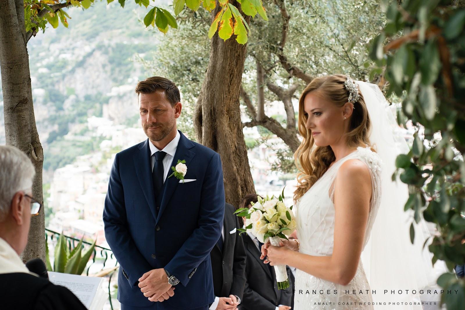 Religious wedding ceremony at Villa Oliviero