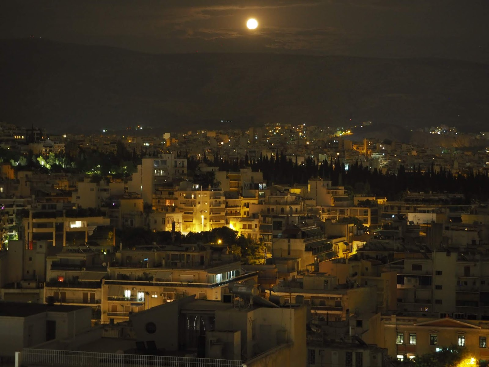 full moon summer event in athens greece