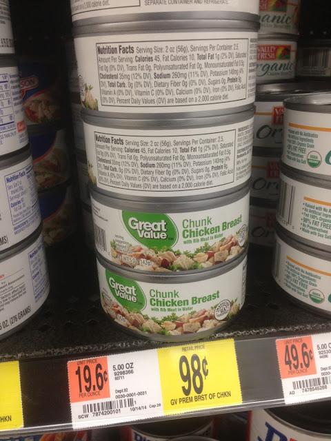 Chicken Breast, 5 oz, Great Value - Walmart