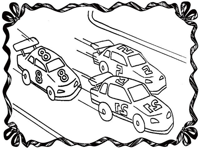 Street Racing Car Coloring Pages