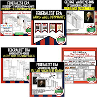 Federalist Era, Google Activities, American History Timelines, American History Word Walls, American History Test Prep, American History Outline Notes, American History by President Research, American History Mapping Activities, American History Biography Profiles, American History Interactive Notebooks