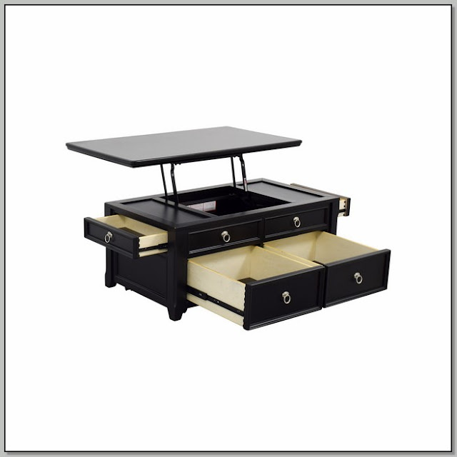Lift Up Coffee Table Black