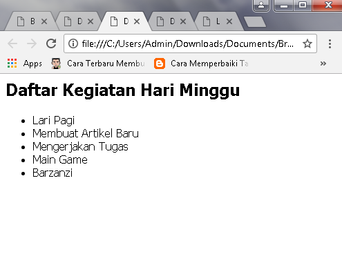 contoh+unordered+list