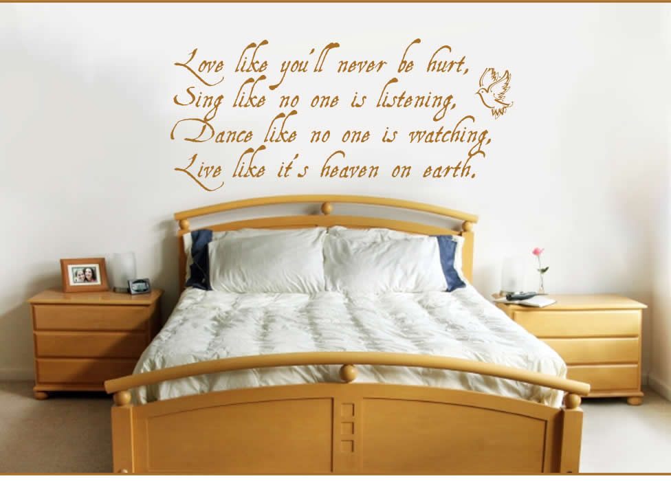 Quotes and sayings decoration quotes interior design - Picture wall ideas for bedroom ...