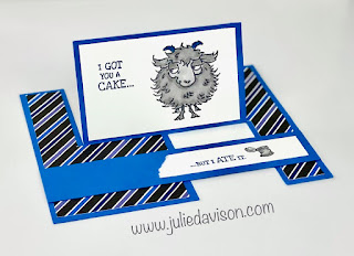 Stampin' Up! Way to Goat Impossible Card + Video Tutorial ~ www.juliedavison.com #stampinup #funfold