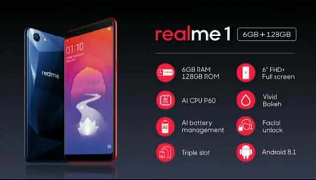 Harga Oppo Realme 1 dan Spesifikasi Lengkap