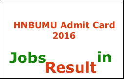 HNBUMU Admit Card 2016