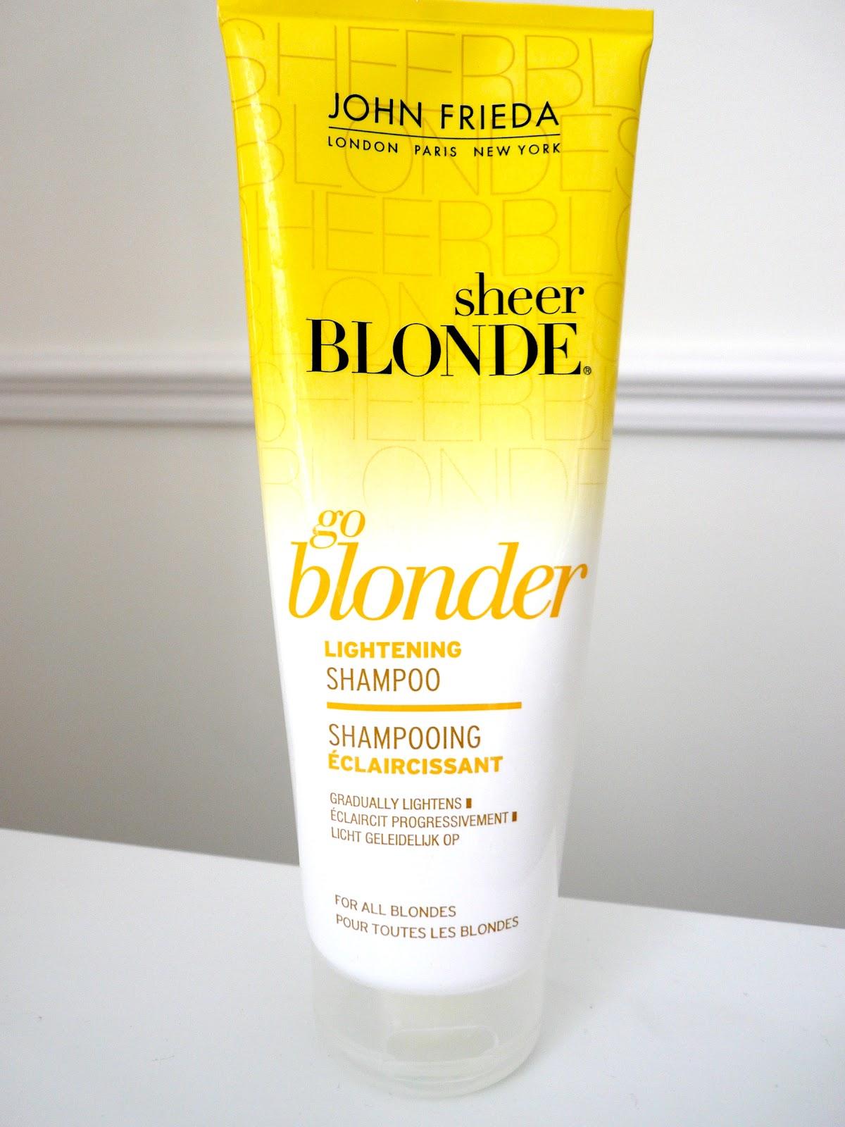 anna6belle review john frieda go blonder lightening shampoo. Black Bedroom Furniture Sets. Home Design Ideas