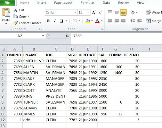 Generate Insert and Update Statements for Excel Sheet From SQL Query in Oracle