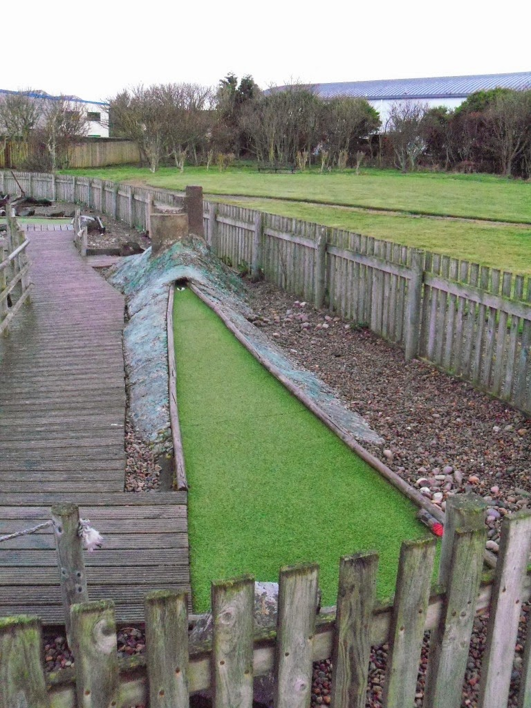 Crazy Golf in Seahouses, Northumberland