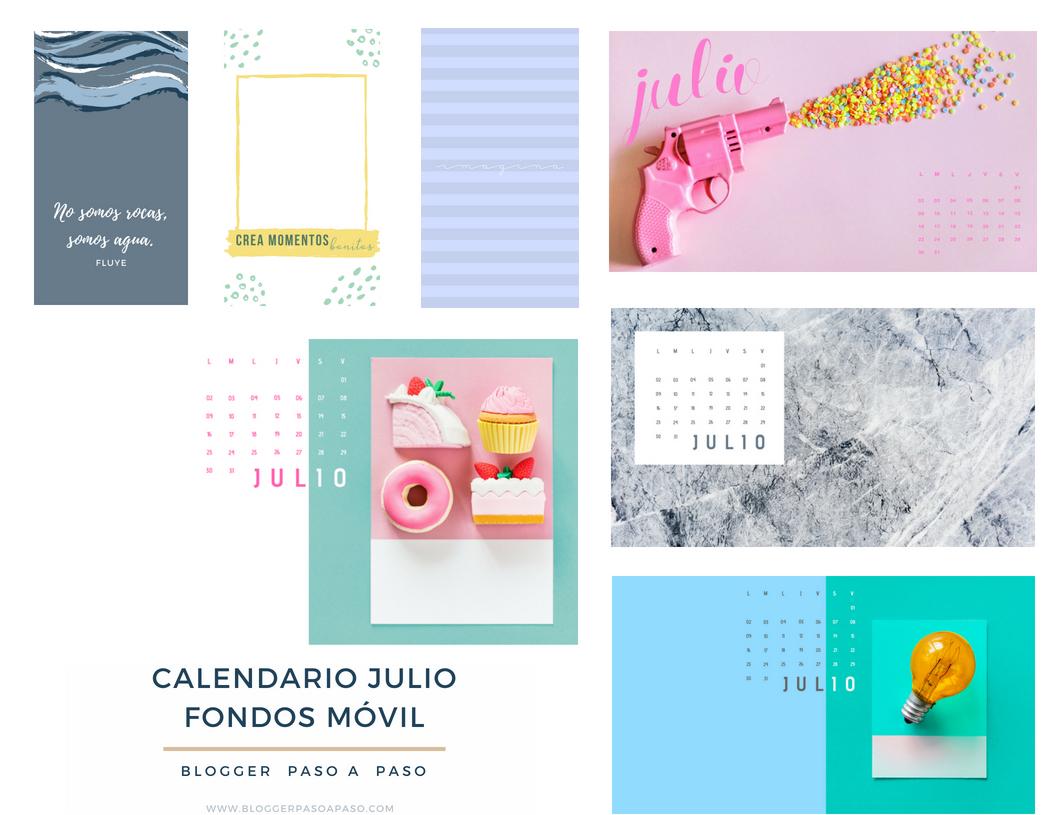 Fondos para el móvil bonitos | Calendarios Wallpaper Julio