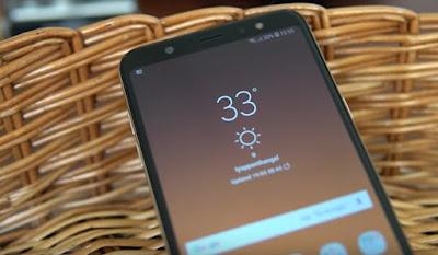 layar Samsung Galaxy A6 Plus