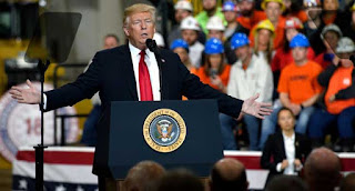 United States' President Donald Trump on Saturday resumed his attacks against online retailing giant Amazon and accused The Washington Post, owned by Amazon's founder Jeff Bezos, of lobbying for the company.