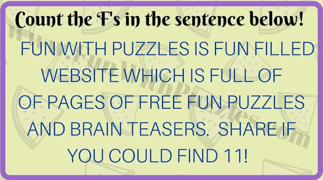 Can your mind correctly count number of Fs in this Picture Puzzle?