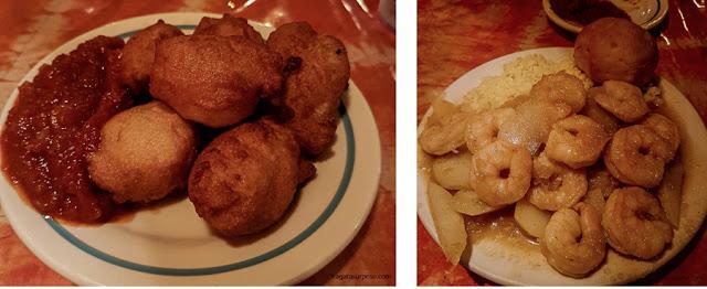 Pratos africanos do Restaurante Bennachin, Nova Orleans
