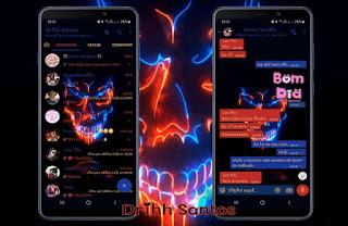 Skull Theme For YOWhatsApp & Fouad WhatsApp By Driih Santos