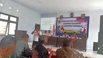 Berikan Wawasan Bidang Olahraga, KONI Purworejo Gelar Pembinaan dan Sosialisasi di Pituruh