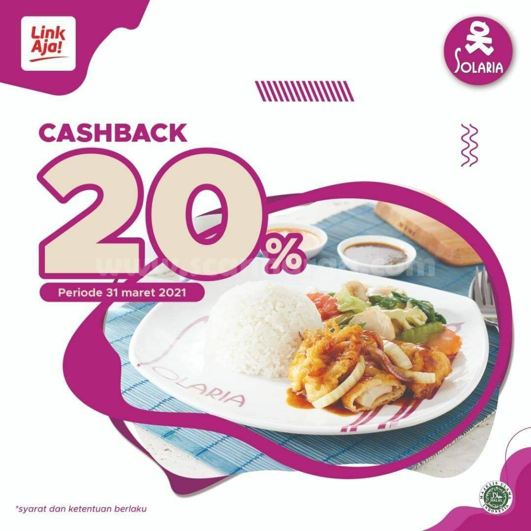 SOLARIA Spesial Promo LinkAja! Always on Cashback 20%