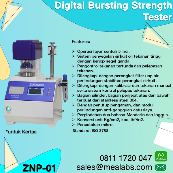 ZNP-01 Bursting Strength Tester for Paper