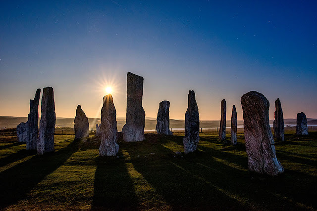 Super moon at Callanish standing stones