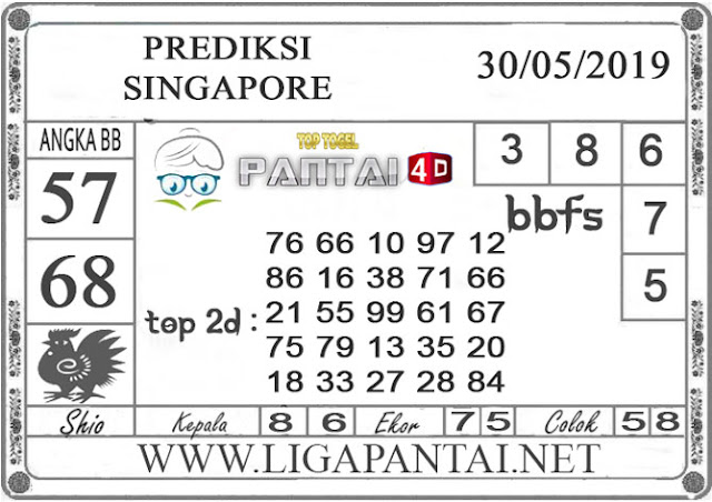 """Prediksi Togel """"SINGAPORE"""" PANTAI4D 30 MEI 2019"""
