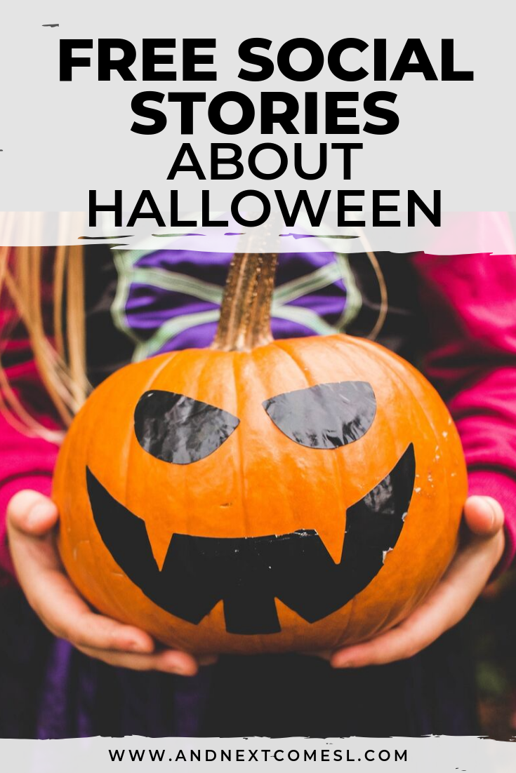 Free Halloween social stories for kids
