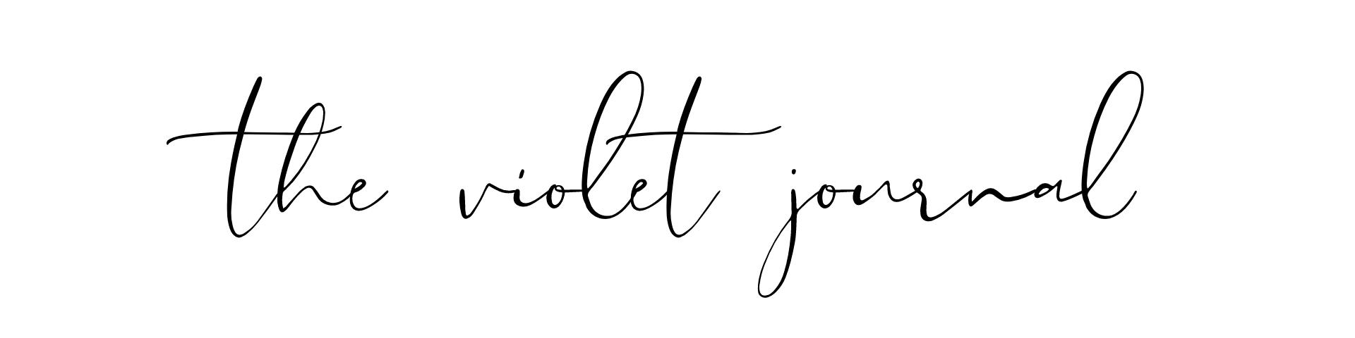Thevioletjournal.com blog header