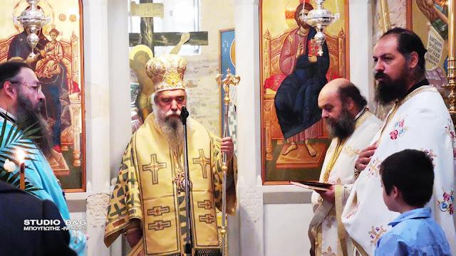 Θεία Λειτουργία από τον Μητροπολίτη Μονεμβασίας και Σπάρτης στο Ναύπλιο (βίντεο)