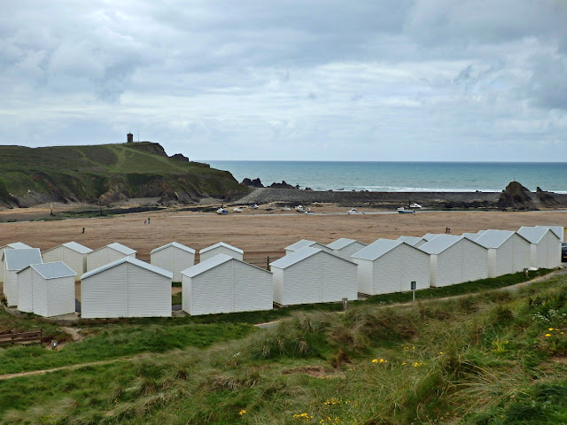 Beach huts at Bude, Cornwall