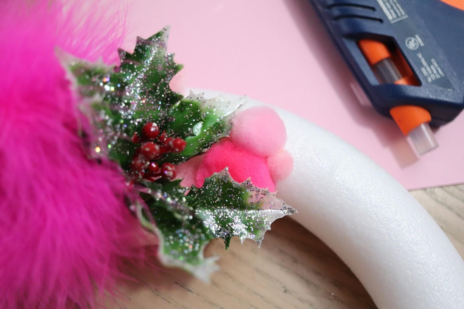 DIY pastel christmas wreath