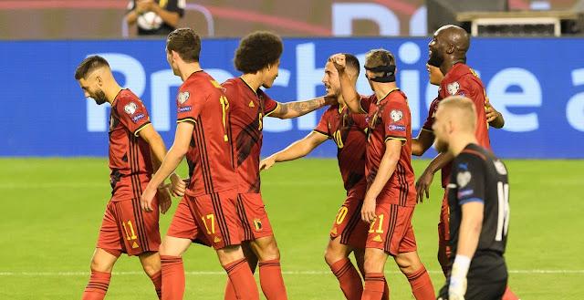 ملخص واهداف مباراة بلجيكا والتشيك (3-0) تصفيات كاس العالم