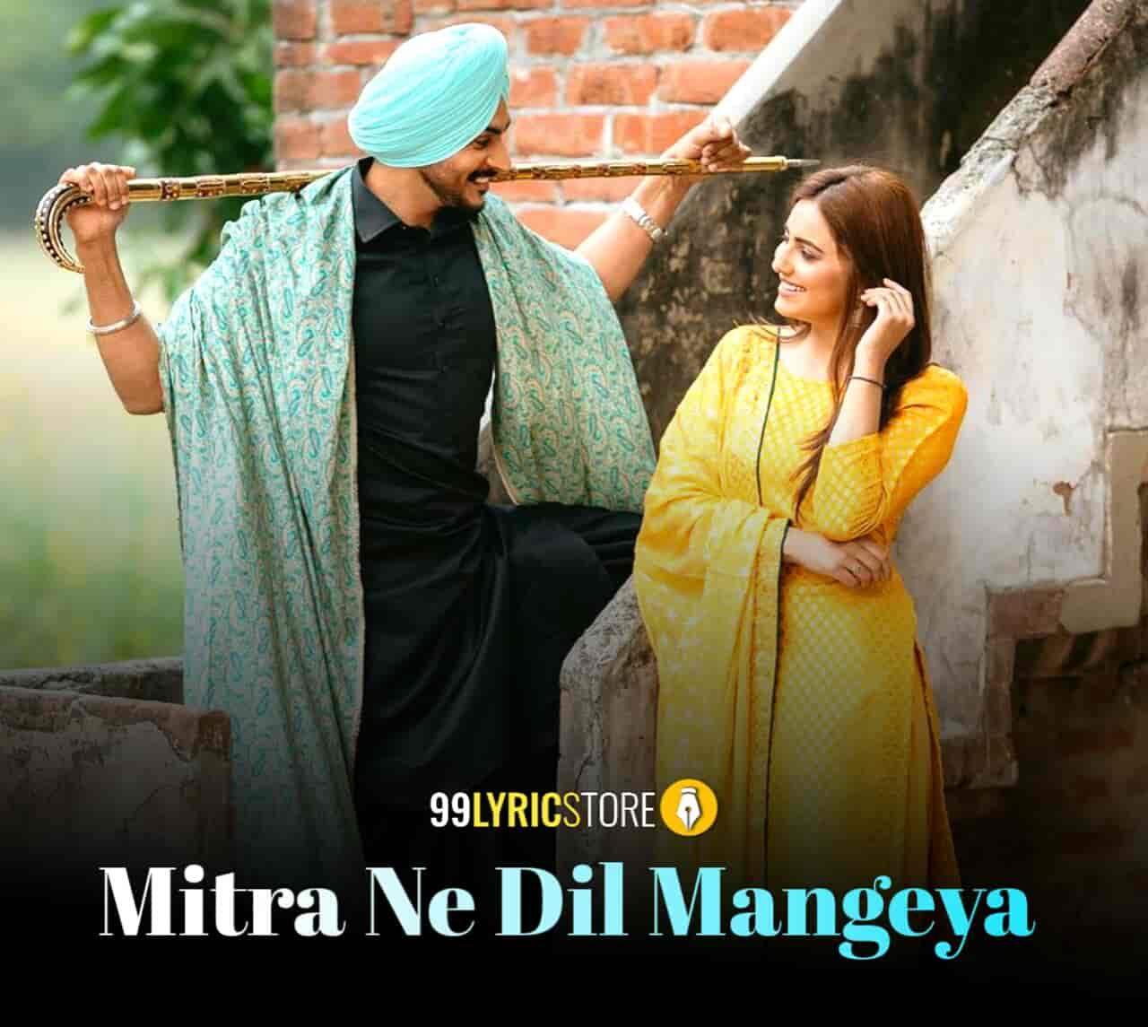 Mitra Ne Dil Mangeya Lyrics Images Rajvir Jawanda