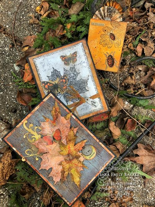 Sara Emily Barker https://sarascloset1.blogspot.com/2019/10/fall-cards-and-treat-bag-featuring-tim.html Fall Cards/Treat Bag Pressed Foliage 1