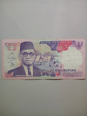10000 rupiah tahun 1992