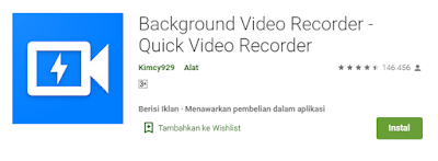 Background Video Recorder app
