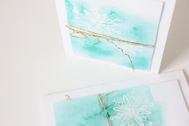 winterliche Karte im Aquarelldesign (+ Video) | Janna Werner