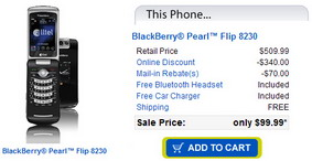 BlackBerry Pearl Flip 8230 now available on Alltel