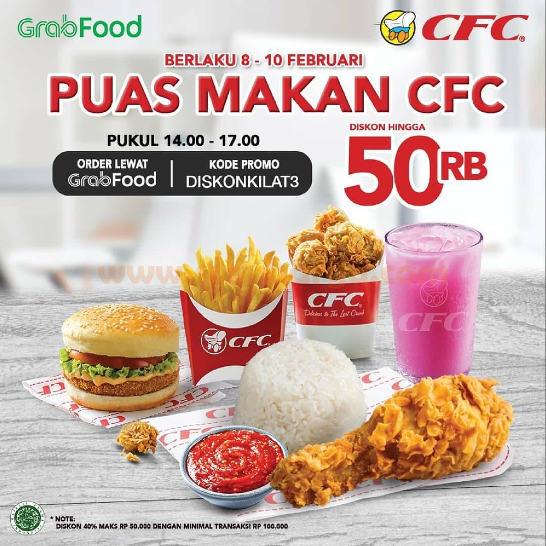 CFC GRABFOOD Promo FLASH SALE! DISKON hingga Rp 50.000