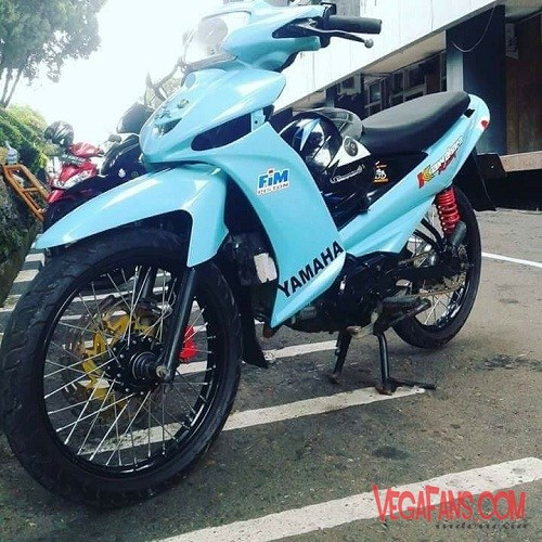 Modifikasi Vega ZR Road Race Biru