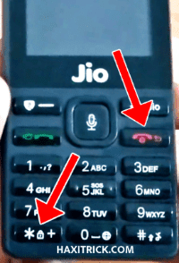 jio phone recovery mode Keys Button