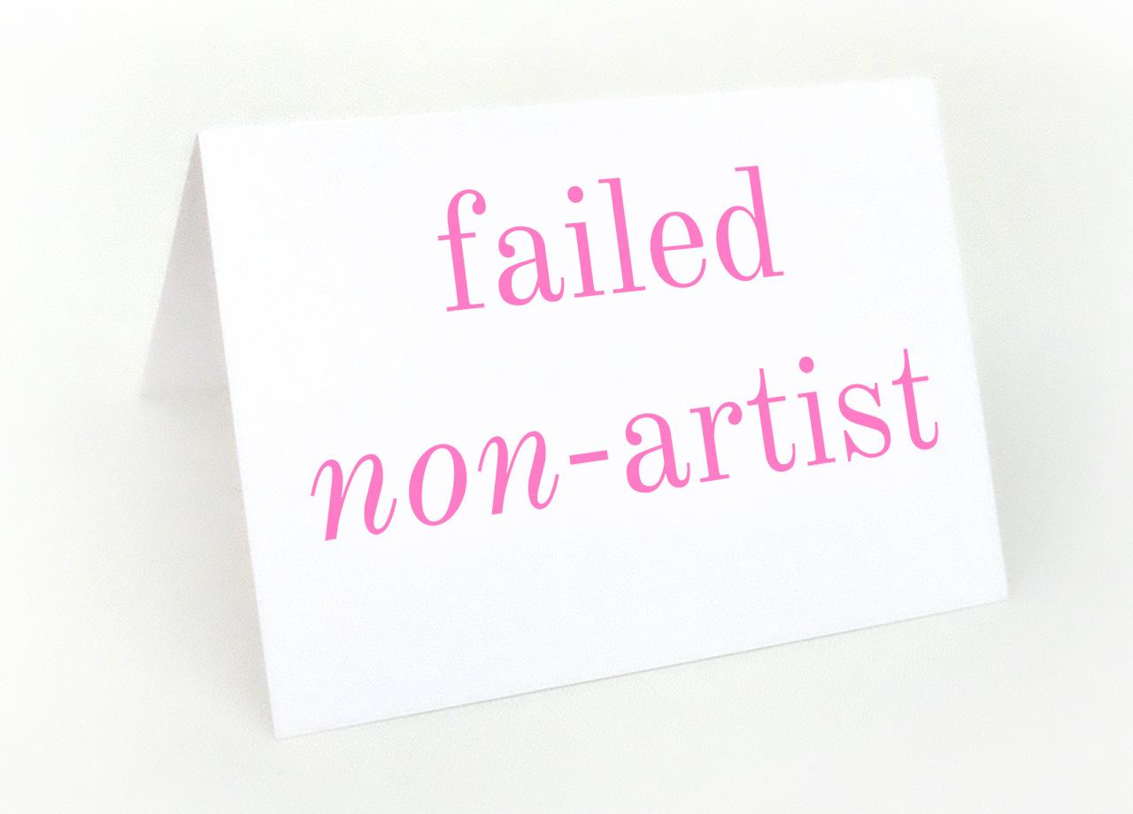 Failed non-artist © Graeme Walker 2020