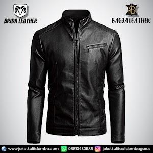 Jual Jaket Kulit Asli Garut Pria Domba Original Brida Leather B39   WA 08813430588