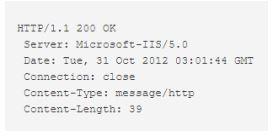Bagian bagian HTTP Response bagian 1
