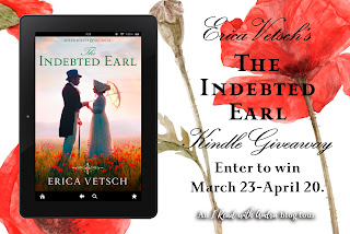 Enter to win March 23 - April 20; The Indebted Earl on a kindle; contest