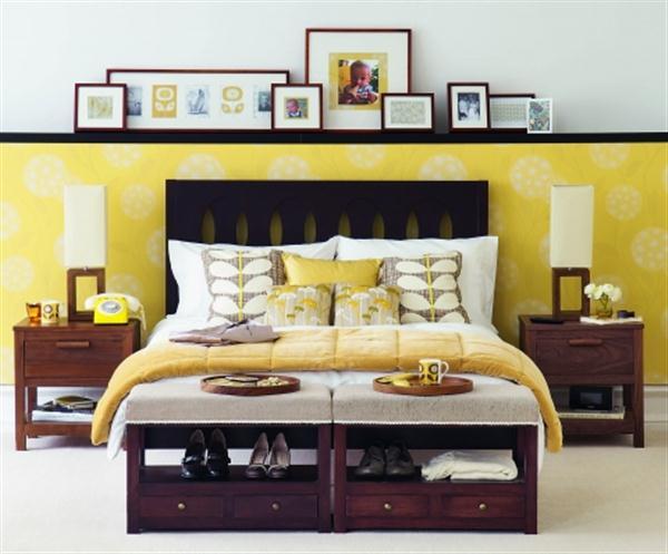 Unique Bedroom Decorating Ideas: Yellow Bedroom Decorating Ideas With Unique Paint