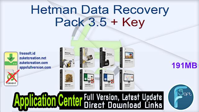 Hetman Data Recovery Pack 3.5 + Key
