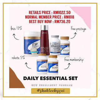 daily essential shaklee julai 2019