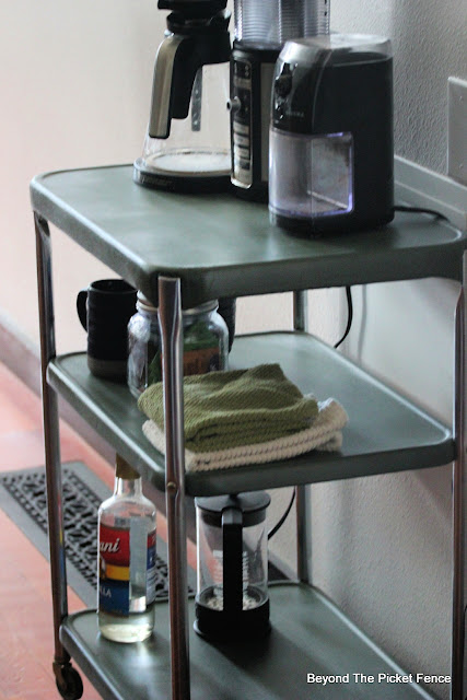 Makeover for a Vintage Metal Serving Cart